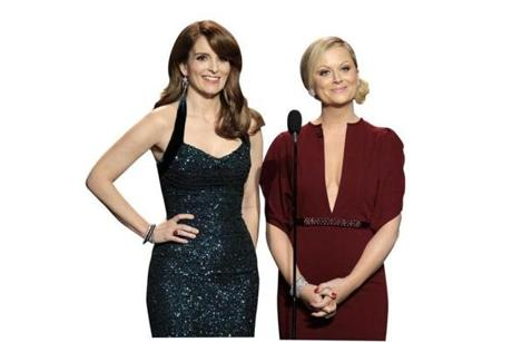 Tina Fey, left, and Amy Poehler were the co-hosts of the 70th annual Golden Globes.